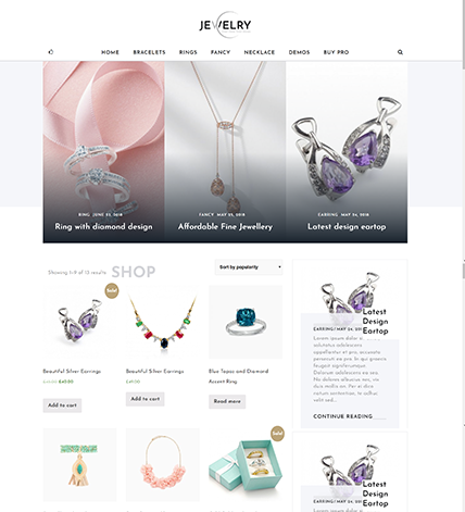 Jewelry Home page