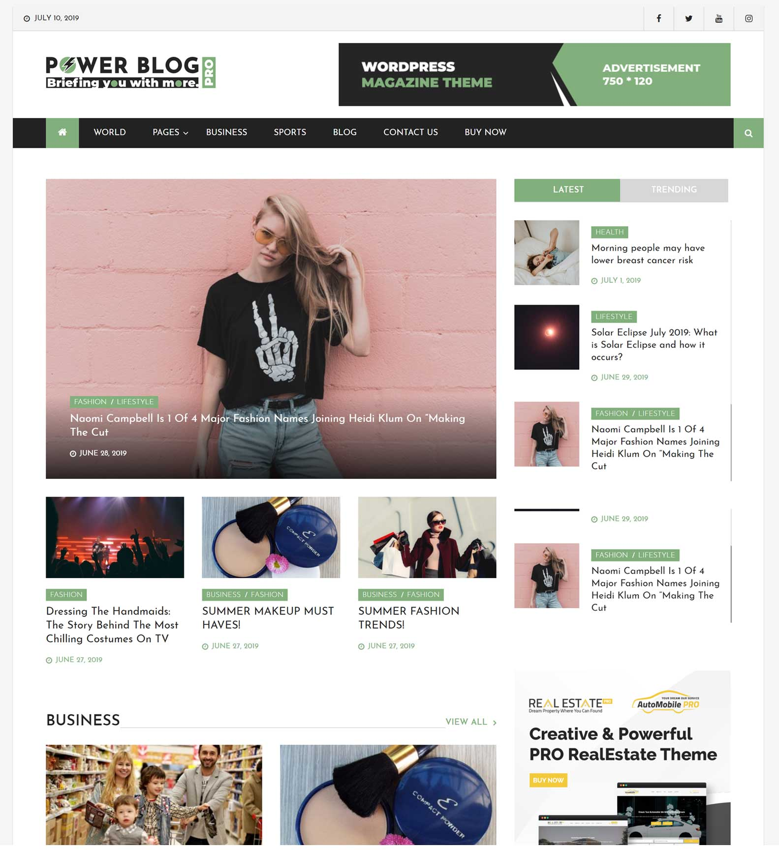 Power Blog Home PAge