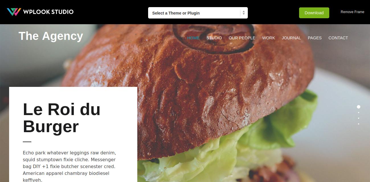 The Agency Portfolio WordPress Theme