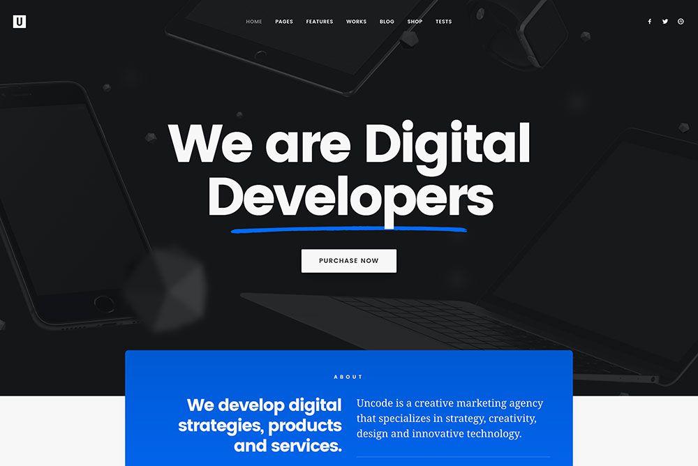 Uncode Portfolio WordPress Theme