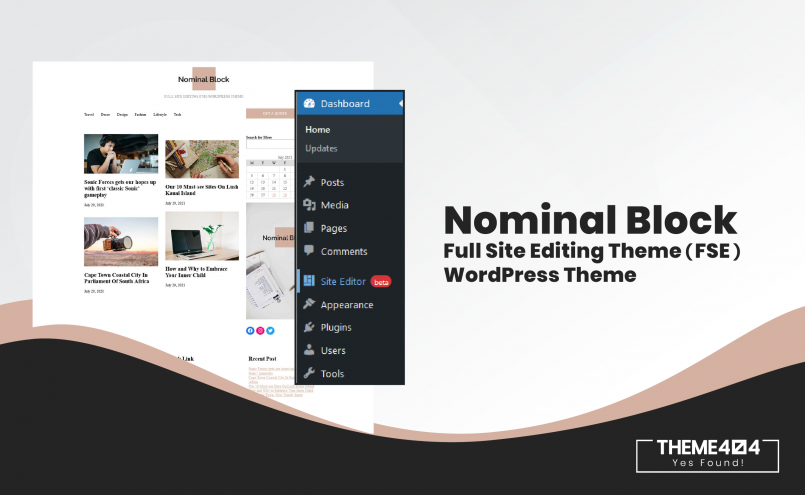 Nominal Block Full Site Editing Theme
