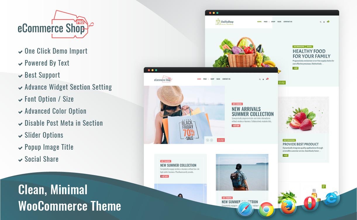 eCommerce Shop Pro - Theme 404